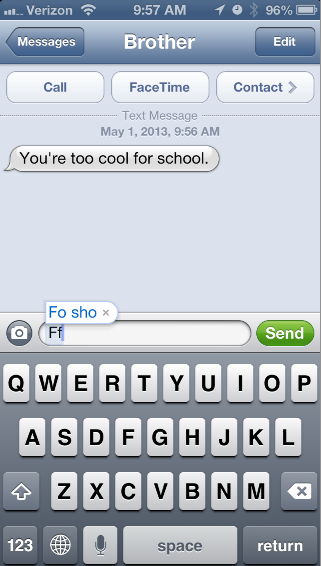 Using the shortcut is actually significantly faster than typing it, AND you don't fight with autocorrect.