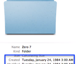 Modifying file/folder creation date in MacOS
