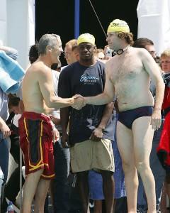 swimming bulge